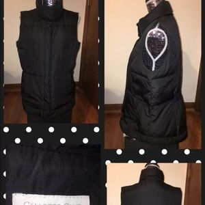 Charter Club Black Sleeveless Puffy Vest Size Lg